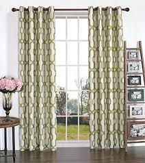 Cool Lattice Geometric Print Modern Farmhouse Dining Room Curtains Drapes