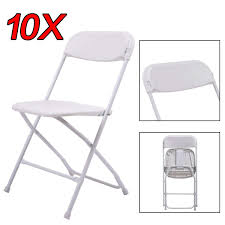100 Event Folding Chair Amazoncom 10 Pack Commercial White Plastic Stackable Wedding