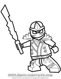 Lego Ninjago Zane KX Coloring Page