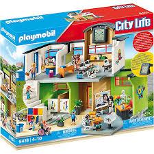 playmobil 9453 große schule mit einrichtung playmobil city