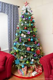 Ft North Valley Spruce Artificial Tree With Dual Color Led Lights Delightful Christmas Trees 75 Feet Flawless 7