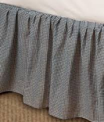 THE LAND OF NOD Green Checked Gingham Dust Ruffle Bed Skirt TWIN