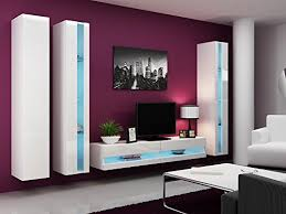 wohnwand vigo new6 anbauwand wohnzimmer möbel hochglanz mit led beleuchtung