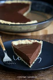 Pumpkin Pie Without Crust Healthy by Vegan Chocolate Pumpkin Pie With Almond Crust Vegan Richa