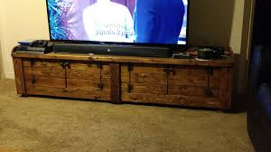 Woodburned Pallet TV Stand For Large Screens