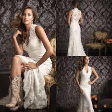 Rustic Wedding Dresses Cap Sleeve Back Button Appliques Vestido De Novia Fashionable Bridal Gowns Hi Low Lace Dress In From Weddings