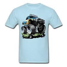 100 Monster Truck Shirts ROCKME Hot Sale Mens Race T Sky Blue