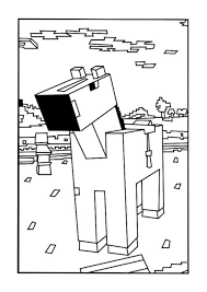 Horse Minecraft Coloring Pages