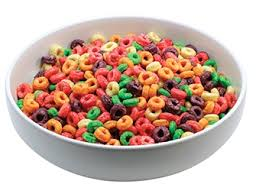 Fruit Loops Cereal In A Bowl