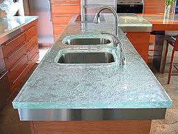 modern kitchen with trend glass countertops kitchen design ideas