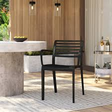 Carpentier Stacking Patio Dining Chair & Reviews | AllModern Patio Chairs At Lowescom Contemporary Ding Chair Stackable Recyclable Product And Modern Lowes Round And Ding Outdoor Costco Alinum Depot Noble House Dover Multibrown Stackable Wicker Chair Mercury Row Corrales Stacking Reviews Wayfair Plastic Herman Miller California White Furnish Vifah 3d 2 Included In Outdoor Chairs Backydinajarcom Trade Winds Restaurant With Centauro Cantilever Couture