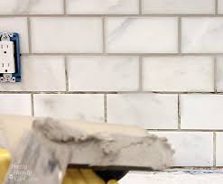 how to tile a backsplash part 2 grouting and sealing a