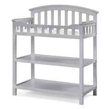 Sorelle Verona Double Dresser Combo French White by Gray Changing Tables