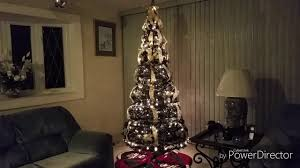 Silver Pre Lit Pop Up Christmas Tree by Pull Up Christmas Tree Less Than 5 Min Assemble Time Youtube