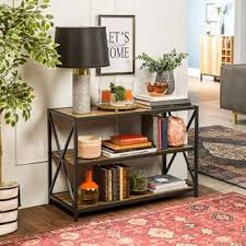 The Gray Barn Pitchfork X Frame Media Bookshelf 2 Options Available