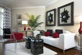 Red Grey And Black Living Room Ideas by Red Black And White Living Room Decorating Ideas Part 15