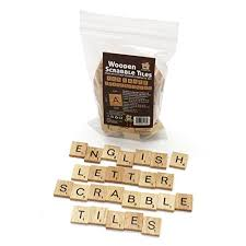 m aimee 300 wood scrabble tiles wooden blacknumbers letters board