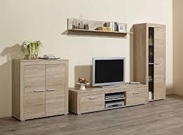 wohnwand niki sonoma eiche melamin harz oberfläche 300 x 159 x 45 cm tv wand fernsehwand wohnzimmerwand
