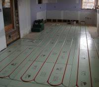 heated bathroom floor systems water in heating concrete floors