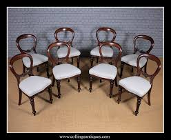 Set Of Eight Balloon Back Dining Chairs. - Collinge Antiques Antique Victorian Ref No 03505 Regent Antiques Set Of Ten Mahogany Balloon Back Ding Chairs 6 Walnut Eight 62 Style Ebay Finely Carved Quality Four C1845 Reproduction Balloon Back Ding Chairs Fiddleback Style Table And In Traditional Living Living Room Upholstery 8 Upholstered Lloonback Antique French