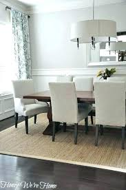 Rug Under Dining Table Size Room Rugs For With Smart