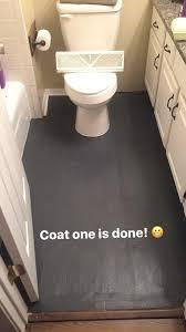 how to paint linoleum floor diy painted bathroom floor