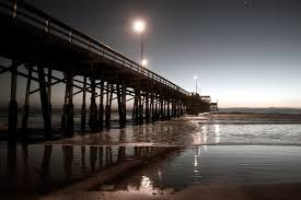 Sunset At The Newport City Beach Pier In Southern California