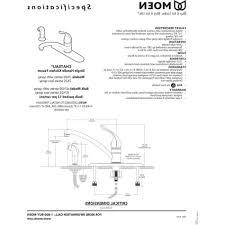 2 Handle Kitchen Faucet Diagram by Black Moen Single Handle Kitchen Faucet Repair Diagram Hole Two