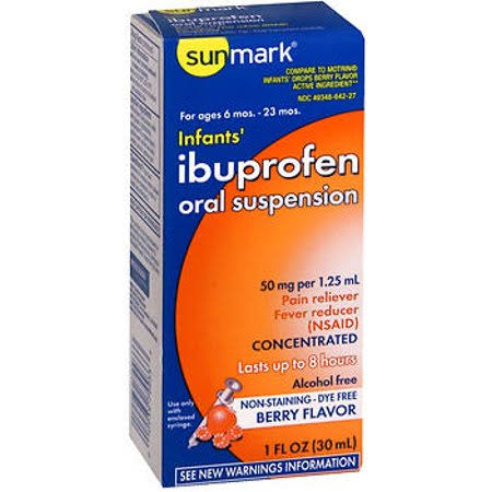 Sunmark Infants Ibuprofen Oral Suspension - Berry, 1oz