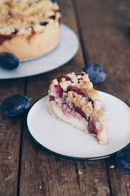 pflaumen cheesecake mit streuseln backen pflaumenrezepte