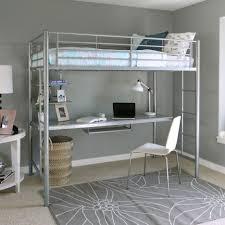 desks full size loft bed with desk diy storage stairs free bunk