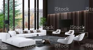 luxus villa wohnzimmer interieur mit modernen weißen möbeln stockfoto und mehr bilder architektur