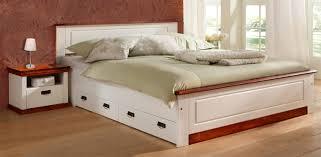 doppelbett madrid futonbett mit nachttischen 180x200cm kiefer massivholz weiß kirschbaum