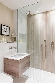bad in naturtönen ebenerdige dusche mit bild kaufen