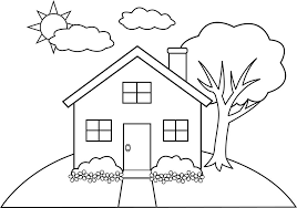House Coloring Pages School Free