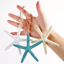 OurWarm Hawaii Party Decorations Resin Finger Starfish Artificial