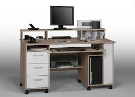 bureau ordinateur blanc bureau informatique contemporain chêne sonoma blanc andria bureau