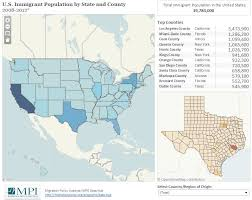 US Immigrant Population By State And County