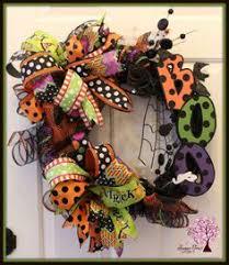 Grandin Road Halloween Wreath by Halloween Mesh Wreath Black Cat Deco Mesh By Shellyschicdesigns