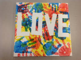 Canvas Art Made With Painters Tape And Red Blue Yellow Tempura Paint Do This The Word Miracles Hang It In Hallway