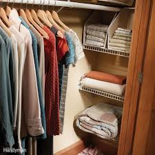 Floor To Ceiling Tension Rod Shelves by Closet Organization A Simple Shelf And Rod System Family Handyman