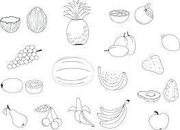 Printable Fruit Coloring Pages Stunning Print Fruits Page Autumn