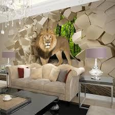 großhandel benutzerdefinierte fototapete 3d stereoskopischen löwe gebrochen wandbild wandgemälde tapete für wohnzimmer schlafzimmer wände papel de