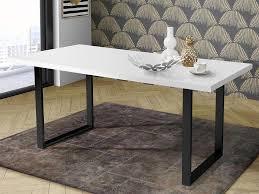 möbelando esszimmertisch holztisch speisetisch esstisch tisch küchentisch talbert vii weiß matt schwarz