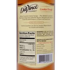 Dunkin Donuts Pumpkin Syrup Nutrition Facts by Davinci Gourmet 750 Ml Cookie Dough Classic Coffee Flavoring Syrup