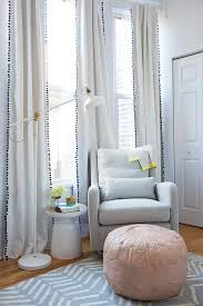 Gray Ruffle Blackout Curtains by Gray White Stripe Ruffle Blackout Drape