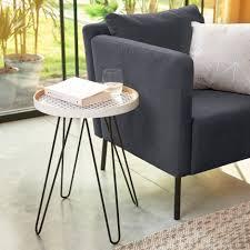 alinea bout de canape dama bout de canapé avec pieds en métal épingles alinéa