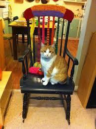 MY CAT YARN BOMBED MY CHAIR | YARN BOMBING