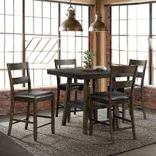 Picket House Furnishings Reid 5-Pc. Counter Height Dining Set - Dark Walnut W Trends Farmhouse 40 Round Kitchen Ding Table Dark Whosale Ding Chair Room Fniture American Classic Sonoma Bentwood Stackable Chair Walnut Modway Fniture E1620walbei Transit Side Beige Elyse Charcoal Room Designer Singapore Soho Home X Anthropologie Willow Green Leather Hopen Hexo Black 1800mm Chairs Alpha Pair Of Grey Effect Chairs Claire