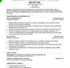 Pharmacy Technician Objective For Resume